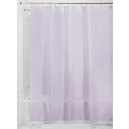 InterDesign Mildew-Free PEVA 3 Gauge Shower Liner, 72 x 72, Lavender