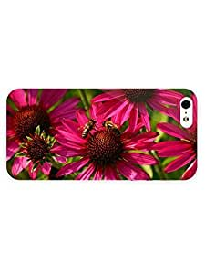 3d Full Wrap Case for iPhone 5/5s Animal Bees On The Flower60