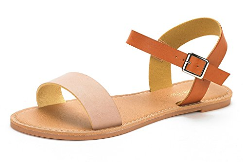 dream-pairs-hoboo-womens-cute-open-toes-one-band-ankle-strap-flexible-summer-flat-sandals-new-nude-t