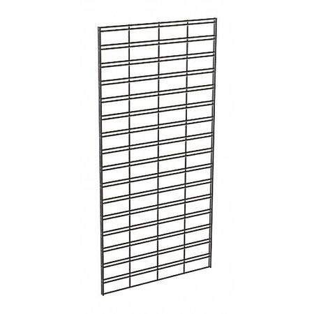 Wire Slatgrid Panel, Black, 2ft.x4ft, PK3