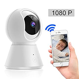 Blibly 1080P WiFi IP Security Camera for Baby/Elder/Pet, APP Remote Control,Two-Way Voice Intercom, HD Infrared Night Vision Function Motion Tracking, Pan/Tilt/Zoom with Home Security System