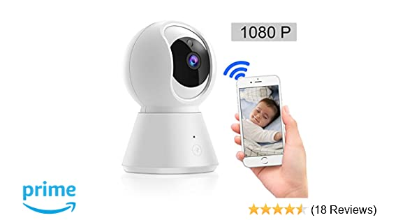 Blibly 1080P WiFi IP Security Camera for Baby/Elder/Pet, APP Remote  Control,Two-Way Voice Intercom, HD Infrared Night Vision Function Motion  Tracking,