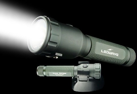 LEDWAVE Flashlights - ZR-8 Patrol, Xenon, Black Annodized Aluminum, Rechargeable
