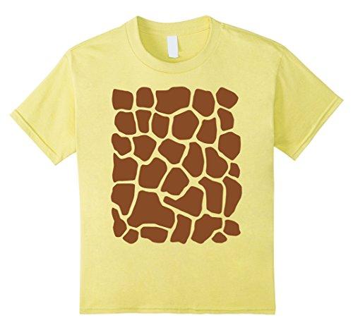 Kids Giraffe Print Simple Halloween Costume Cute T-shirt ...