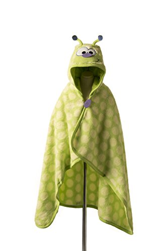 Goo-Goo Baby Button Nose Kid's Hooded Blanket and Towel, Warm Soft Fleece Character Blanket, Caterpillar, 0-10 Years by Goo-Goo Baby