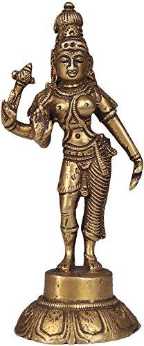 Ardhanarishvara (Shiva-Shakti) - Brass Statue