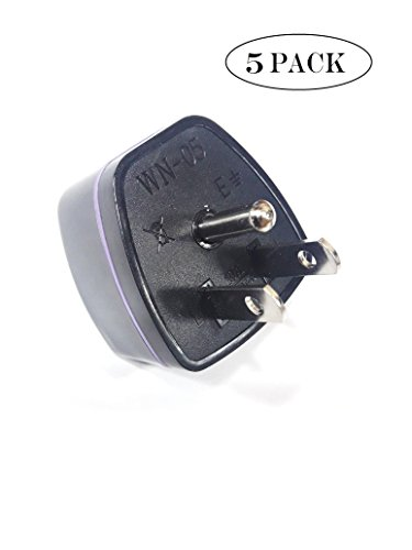 Storite EU TO US Travel 3-Prong Plug Adapter Grounded & Universal/US/Japan/Canada/CEE 7/16 (Type B)-Pack of - Outlets North Georgia In