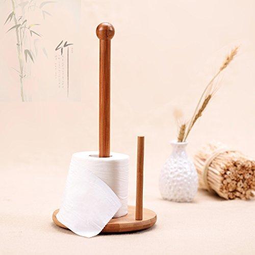 Bambú Portarrollos para papel higiénico rollo de papel Torre de papel Tissue Soporte Cocina Baño Aseo Sala De Estar accesorios