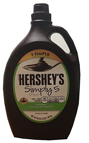 Hershey's Simply 5 Syrup 5 Simple Ingredients Genuine Chocolate Flavor 48 Oz (3 Lbs) Bottle