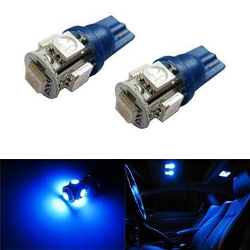 Car Interior Light Bulbs: iJDMTOY 5-SMD 168 194 2825 T10 LED Car Interior Map Dome Light Bulbs,,Lighting