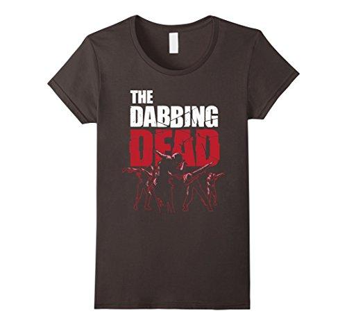 Womens The Dabbing Dead Zombie T-shirt Walking Dab Halloween Gift Medium (Famous Dead Women Costumes)