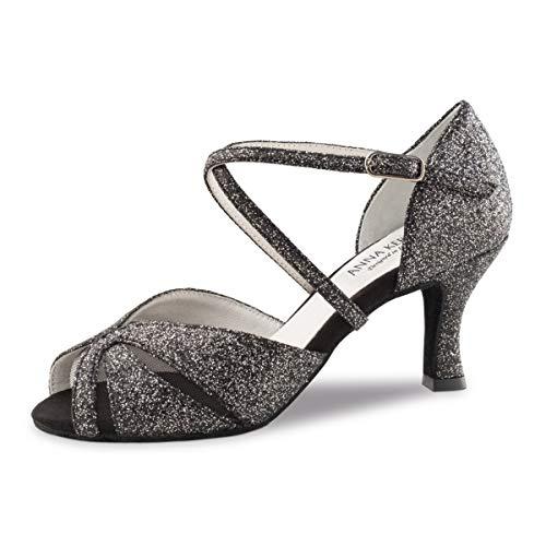 60 Anna Brocart Danse Chaussures Femmes Kern 780 6 Cm De argent Noir Tn6TYq