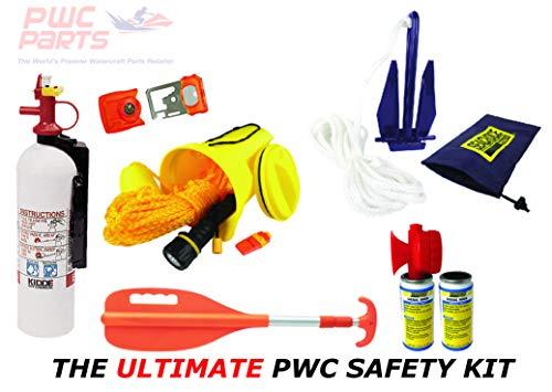 (PWC Parts Ultimate Safety Kit for All Personal Watercraft SeaDoo Yamaha Kawasaki Honda Polaris GTX GTI RXP-X RXT-X GTR EX Spark FX VX Cruiser Sport Deluxe Limited XLT GP-R 1200 1300 800 XL GP1800 VXR)