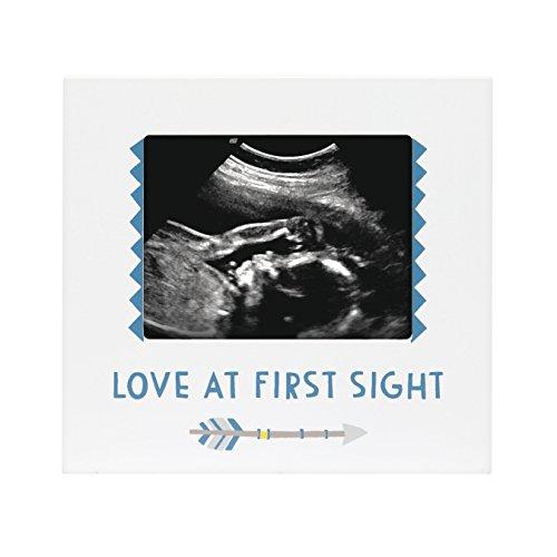 Pearhead Sonogram Frame, Boy, Blue Baby Nursery Photo Frame