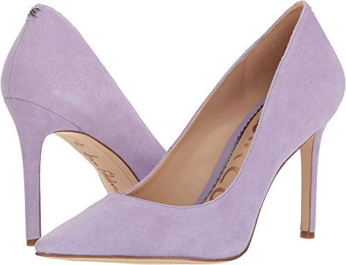 Caramel Edelman Pumps Kid 10 Sam Leather Suede Hazel Lavender Golden Women's US Women M UaXRx