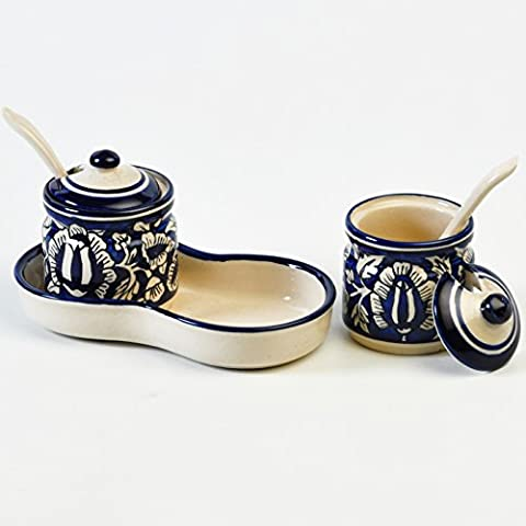 Cultural Concepts Pickle Set - Blue Mughal Set Of 2Pcs 2 Bottles