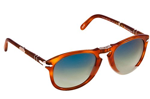 Persol PO0714SM 96/S3 Light Havana Aviator Folding Steve McQueen Sunglasses (Persol Steve Mcqueen 714 Sm Special Edition)
