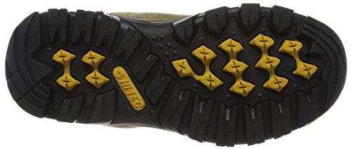 Hi-Tec Hillside Waterproof Junior, Zapatos de High Rise Senderismo Unisex Niños Marrón (Smokey Brown/Gold 041)