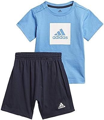 adidas I Logo Sum Set Chándal, Unisex bebé, Top:Lucky Blue/White Bottom:Legend Ink f17/White, 9-12M: Amazon.es: Deportes y aire libre