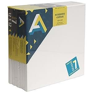 Art Alternatives Economy Artist White Canvas Super Value Pack-12 x 12 inches-Pack of 7