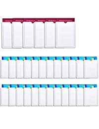 TecUnite 30 Pieces Unisex RFID Blocking Sleeves, Identity Theft Protection Sleeves Including 24 Credit Card Holders and 6 Passport Protectors