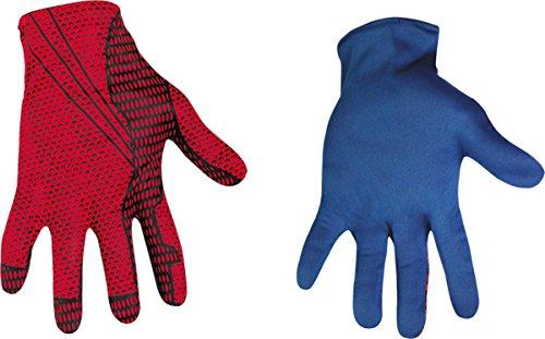 Morris Costumes Men's SPIDER-MAN MOVIE ADULT GLOVES, Red/Blue, 4-6