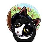 Cell Phone Ring Holder Cellphone Finger Stand 360 Degree Rotation Work for Smartphone-Funny Tuxedo cat