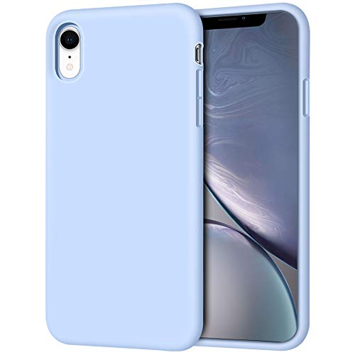 iPhone XR Case, Anuck Soft Silicone Gel Rubber Bumper Phone Case with Anti-Scratch Microfiber Lining Hard Shell Shockproof Full-Body Protective Case Cover for Apple iPhone XR 6.1