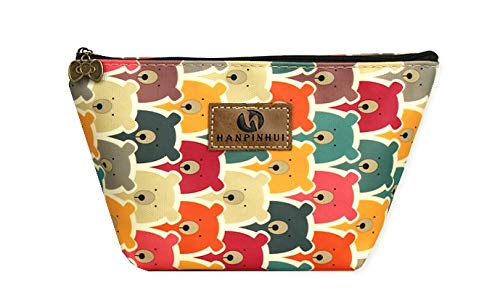 - AURORA BAY Roomy Cosmetic Pouch Clutch Makeup Bag Waterproof Toiletry Bag (Bear)