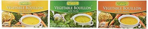 Rapunzel Vegetable Bouillon Variety--6 Pack--(2-Seal Salt , 2-Herbs , 2-No Salt)