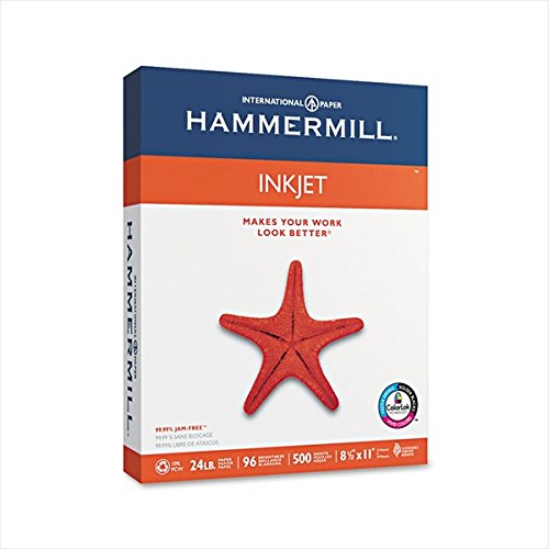 Hammermill : Inkjet Paper, 96 Brightness, 24lb, Letter, 500 Sheets -:- Sold as 2 Packs of - 500 - / - Total of 1000 Each