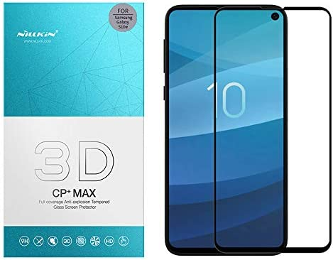 Nillkin Tempered Glass for Samsung Galaxy S10e S 10e (5.8″ Inch) 3D CP+ Max Glass 0.1mm Thin Edge Shaterproof Full Screen Coverage Explosion Proof Screen Protect Black Color