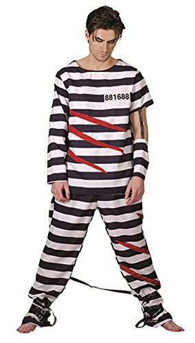 Momo&Ayat Fashions Adults Halloween Escape From Alcartraz DS Costume Onesize fits All (Onesize, (Halloween Fancy Dress Escape)