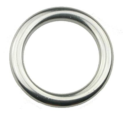 10pieza D de anillo Soldado, pulido D = 6x 40mm