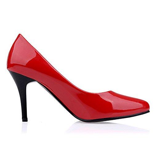 ... Balamasa Damene Stiletto Winkle Pinker Utringede Overdel Patent Lær  Pumper-sko Røde ...