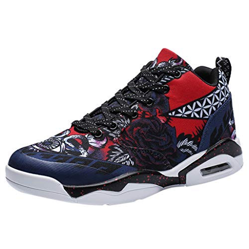 2019 Basketball Shoes for Men,Sharemen Graffiti Air Cushion Boost Basket Homme Shoes Sneakers(Blue,US: 7)