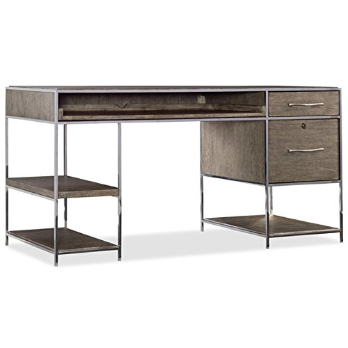 Hooker Furniture Storia Computer Desk in Medium Wood Lateral File Console