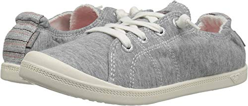 Roxy Girls' RG Bayshore Sneaker, Grey Heather, 1 M US Little Kid -