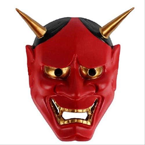 QWHW Vintage japonés Budista Malvado Oni NOH máscara Disfraz de ...