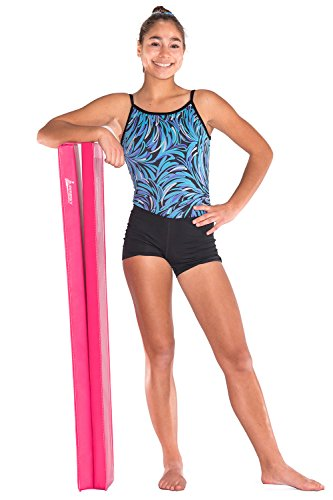Juperbsky 8ft Balance Beam for Kid's Gymnastics Practice – Folding and Easy to Store, Non Slip – Floor Gym Equipment for Teens Hone Skills at Home