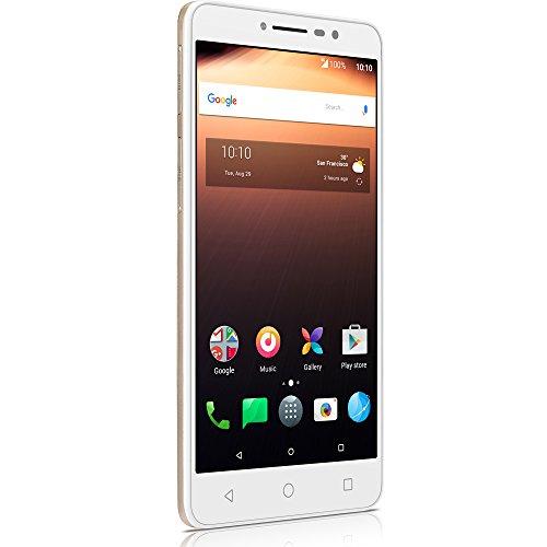 Smartphone alcatel a3 xl max dourado, dual chip, tela hd 6 pol., 3gb ram, android 7.0 nougat