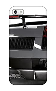 For EuniceNSmith Iphone Protective Case, High Quality For Iphone 5/5s Lamborghini Gallardo Wallpaper Skin Case Cover