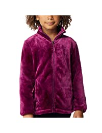 32 Degrees Girl's Plush Zip-Up Jacket, Wood Purple