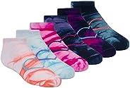 Skechers girls 6 Pack Tie Dye Low Cut Socks