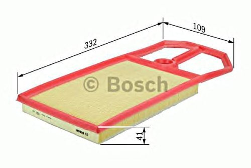 BOSCH Engine Air Filter Insert Fits HONDA Mobilio Jazz 1.2-1.5L 2001-08