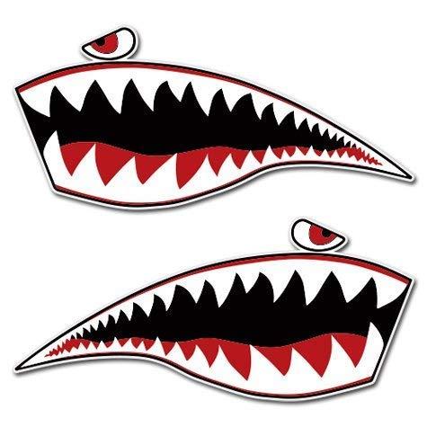 Carframes18 Warhawk Flying Tiger Shark Set Wall Decal Vinyl Home Decoration - 28