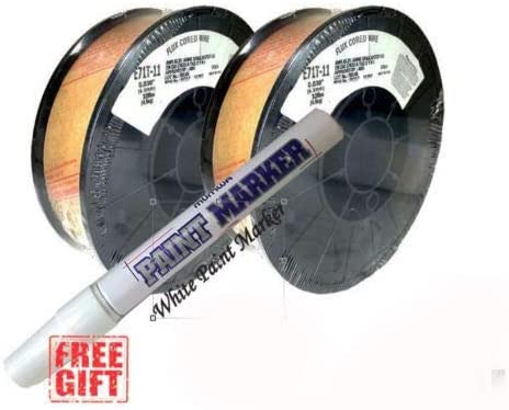 USA MADE 2 x 10lb .035 E71T-11 Flux Cored Gasless Weld Wire