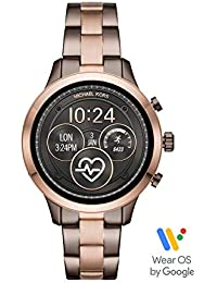 Women's Access Runway Stainless Steel Plated touchscreen Watch Strap, GoldToned, 18 (Model: MKT5047)