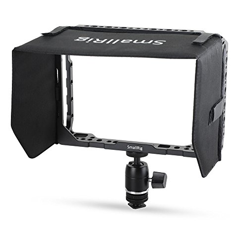 SmallRig Director 7 inch Monitor Cage Accessory Kit for Blackmagic Design Video Assist 7 Monitor with HDMI Clamp, Sunhood, Ballhead and Cold Shoe Adapter - 1988