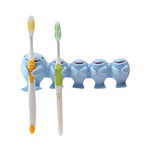 Amazon.com: Gessppo Creative Cute Home Lovely Whale Toothbrush Holder Scientific Sucker Toothbrush Rack Estante para cepillo de dientes: Home & Kitchen